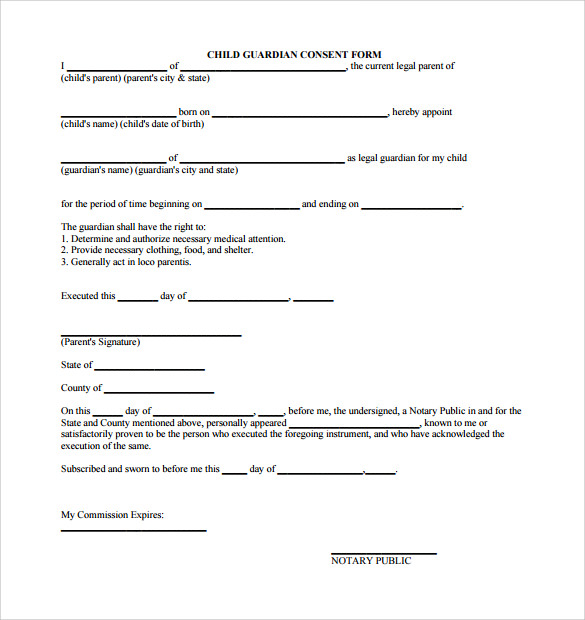 Sample Legal Guardianship Form   Download Documents In Pdf  Word