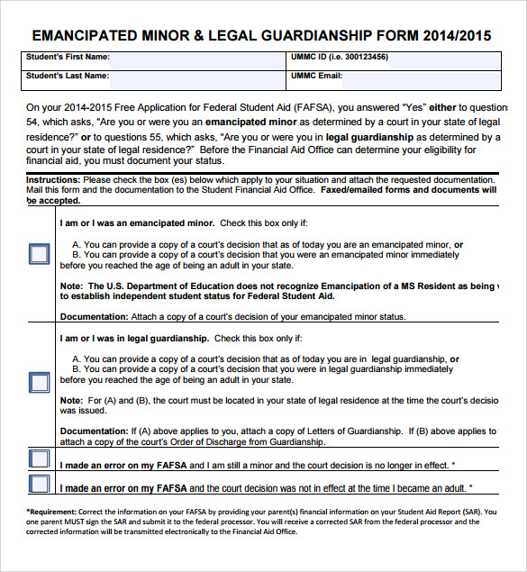 free legal guardianship form