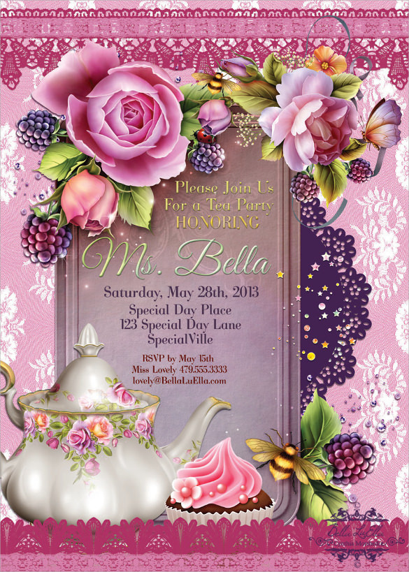 11 tea party invitation templates to download