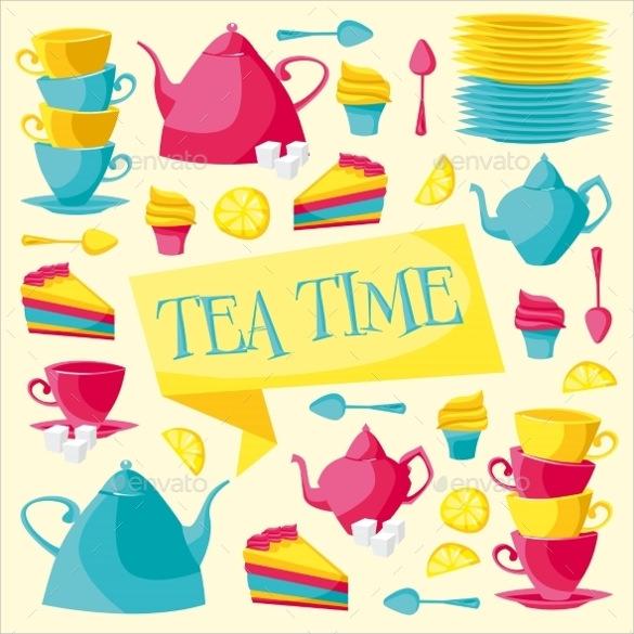 tea time card invitation