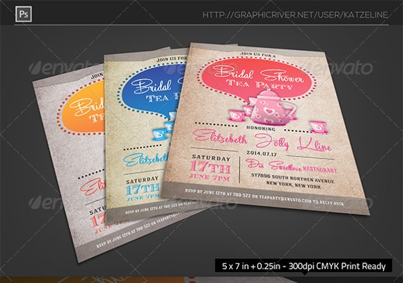 free 11  tea party invitation templates to in ms word