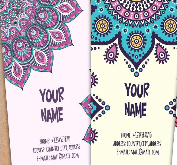 business invitation card in ethnic style