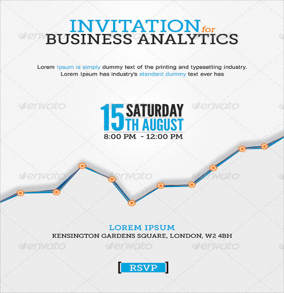 Business Invitation Template with Flowers Style kKz881hM