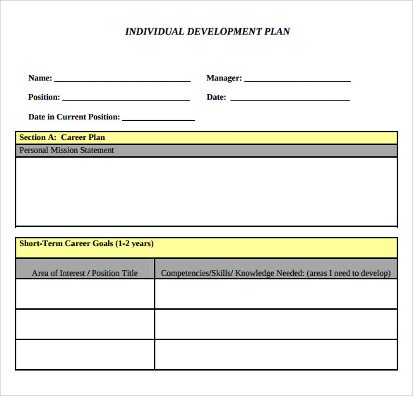 Coaching Plan Template. Personal Development Plan Template Best 25 ...