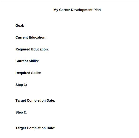 career development plan template .