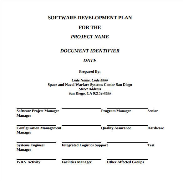 Software development business plan template