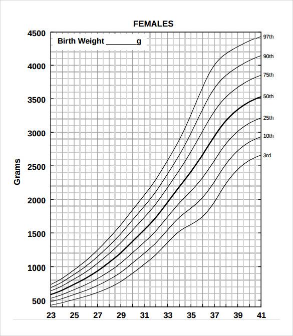 girls weight chart