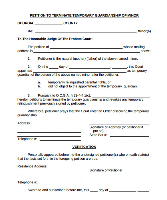 Priceless image intended for printable temporary guardianship forms