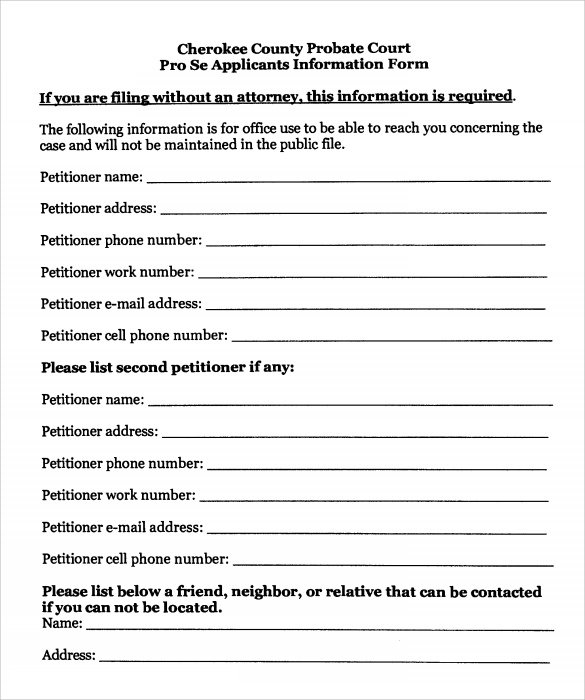 Temporary Custody Form
