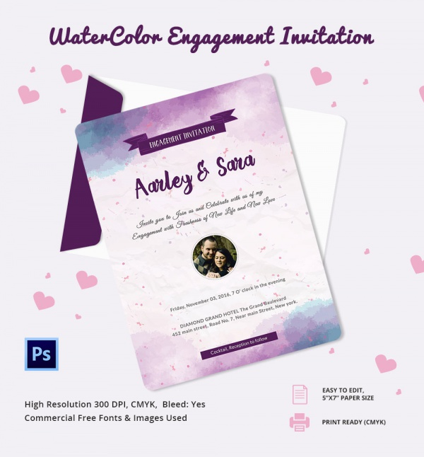 Sample Invitation Template Download Premium and Free Documents in – Free Engagement Invitation Template