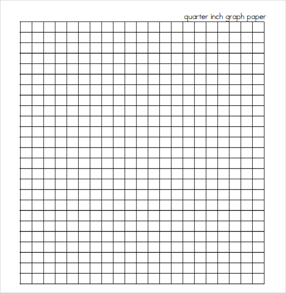 7  sample half inch graph papers