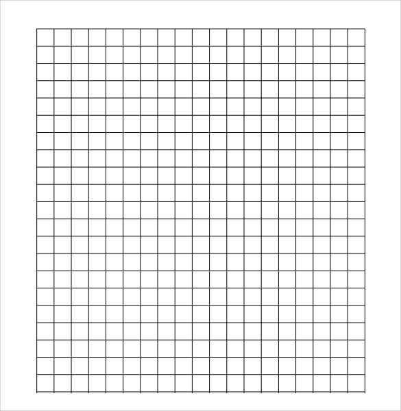 Sample Half Inch Graph Paper   Documents In Pdf Word