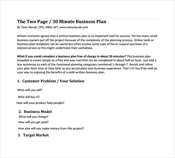 Sample Business Plan 10 Documents In Pdf Word
