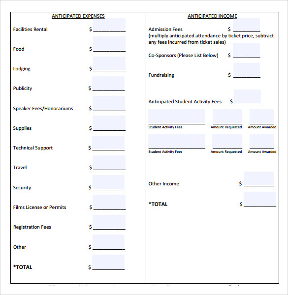 budget plan example template