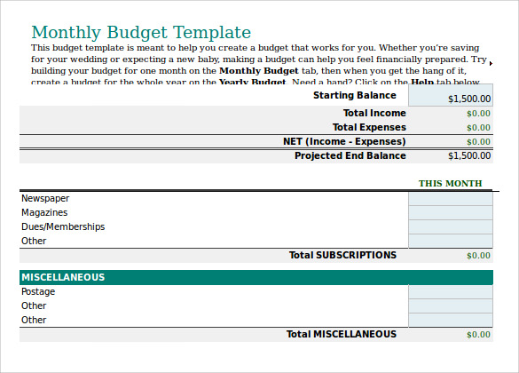 business budget plan template pdf