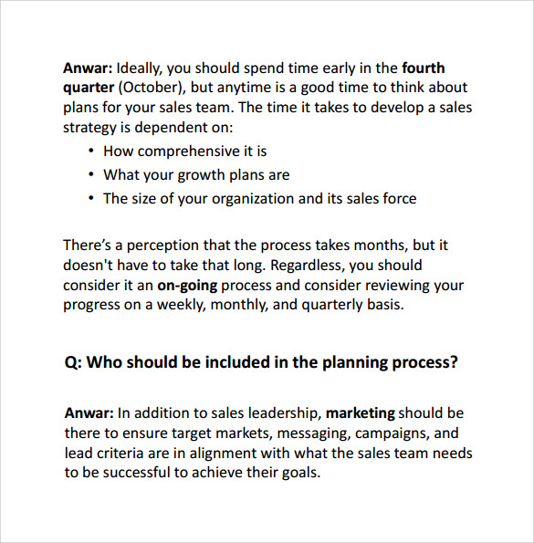 Sample Sales Action Plan Template 7 Free Documents In Pdf Word