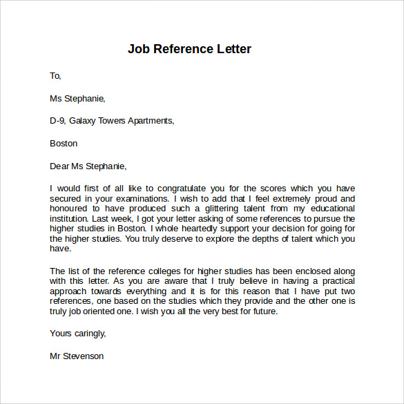 employment cover letter example free
