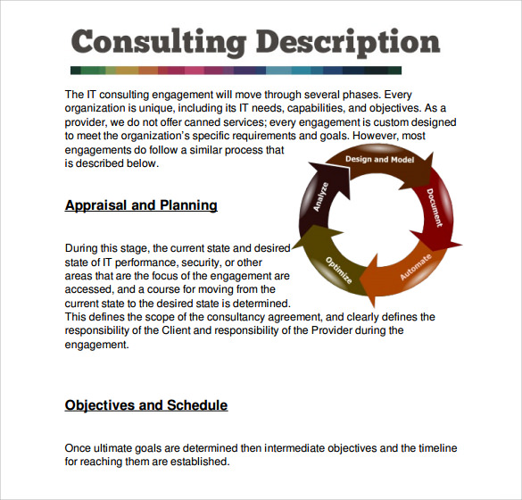 Sample Consultant Proposal Template   Free Documents Download