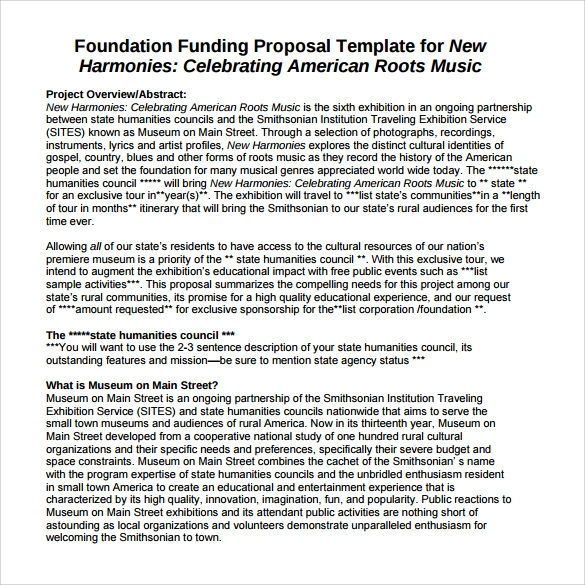 sample funding proposal template1