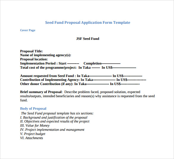 funding proposal template 7 free samples examples