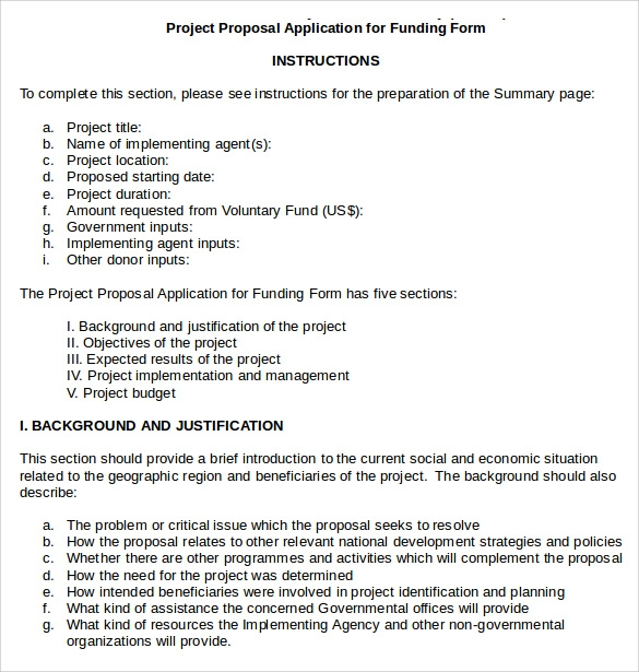 Sample Funding Proposal - 6+ Documents In Pdf, Word