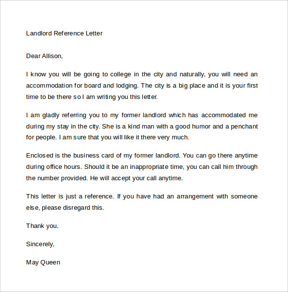 9 rental reference letter template free word pdf landlord reference sample employment reference letter for landlord images yadclub Choice Image