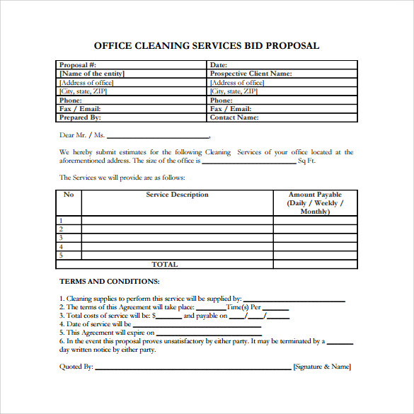 Sample Service Proposal   Example Format