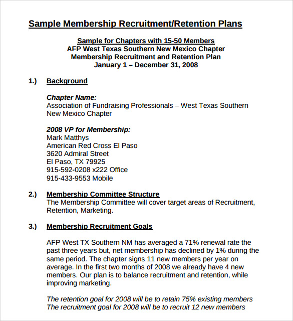 Recruitment Plan Template. recruitment and selection. sample ...