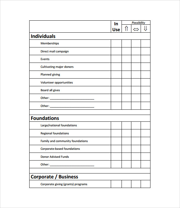 11 fundraising plan samples sample templates for Fundraising strategic plan template