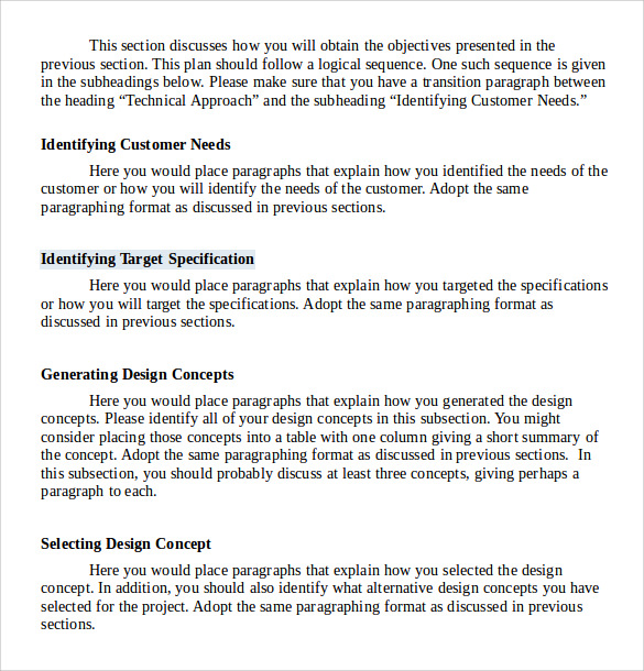 Business proposal writing template