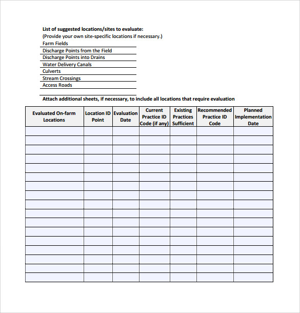 Sample Control Plan 6 Documents In Pdf Word Excel