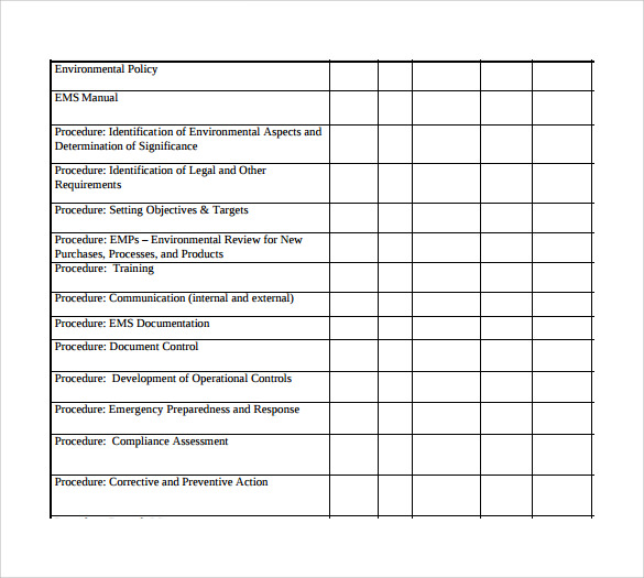 sample control plan template