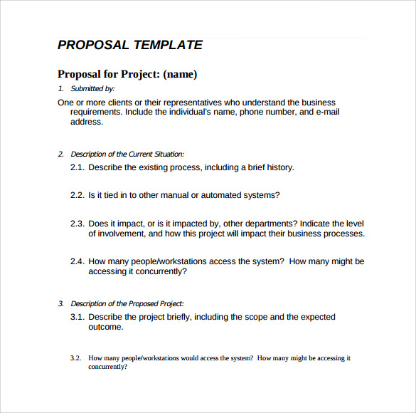 Sample Simple Proposal   Documents In Pdf Word