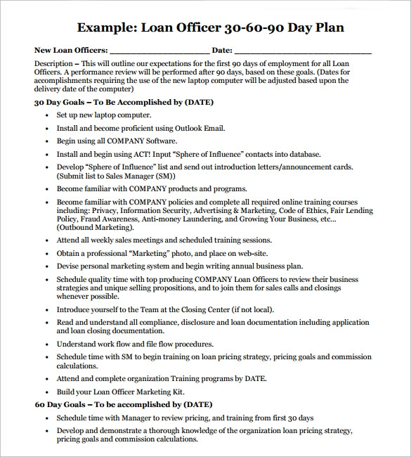 Sample 90 Day Plan - 11+ Documents In Pdf