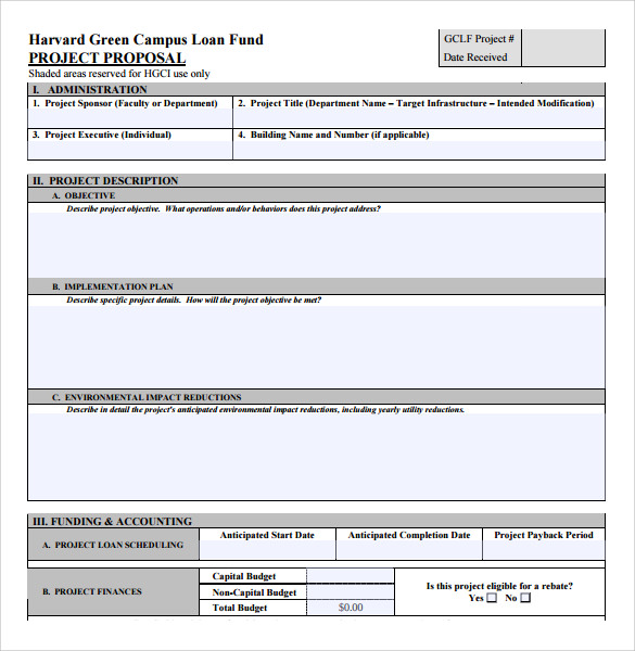 Loan Proposal Templates U20136+ Free Samples, Examples U0026 Formats