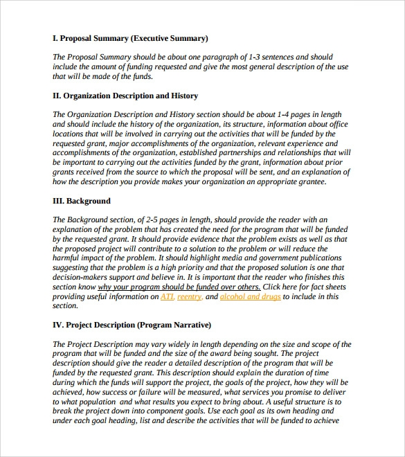 Formal Proposal Sample Template