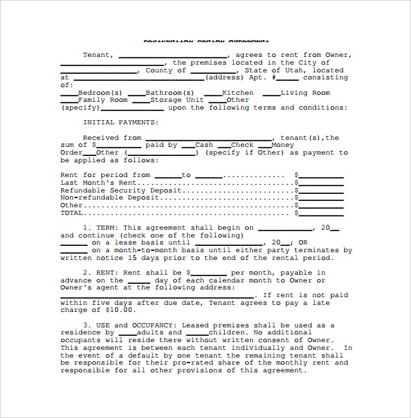 Sample Month To Month Rental Agreement - 7+ Documents In Pdf, Word