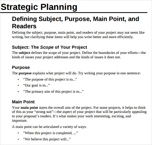 Sample Technical Proposal Template Strategic Management Consultants