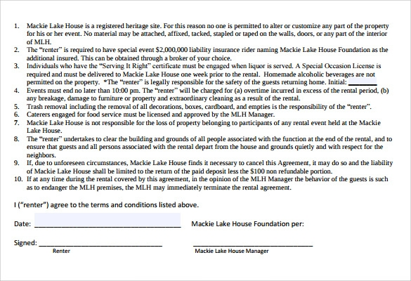 Home Rental Agreement 8 Free Samples Examples Formats – House Rental Agreement Template