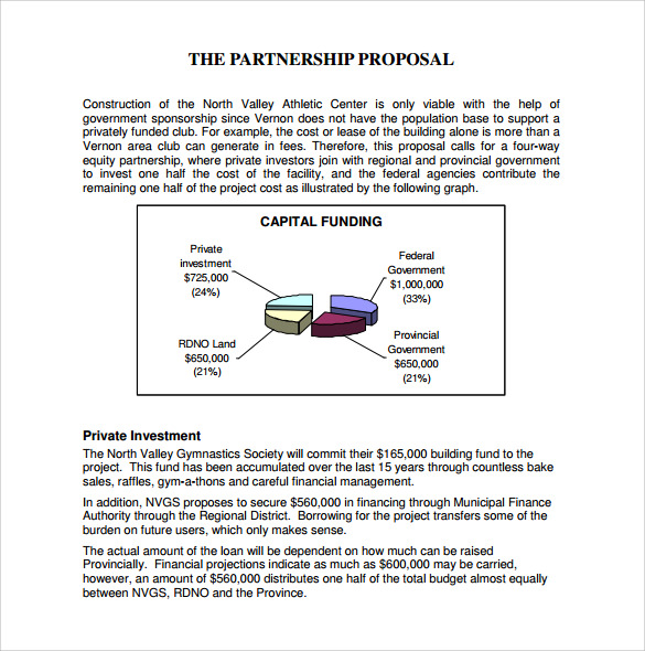 Sample Partnership Proposal - 8+ Documents in PDF, Word
