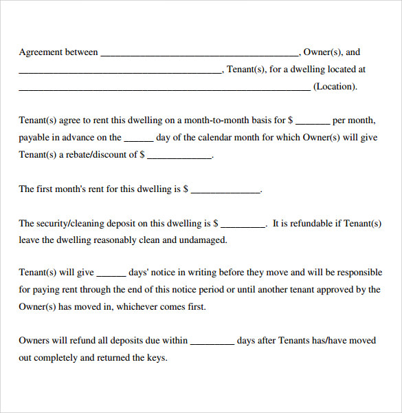 Sample Basic Lease Agreement   Example Format