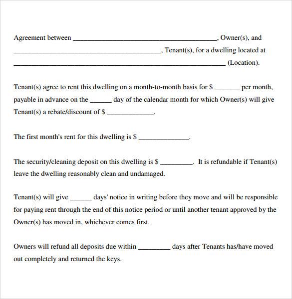 Sample Basic Lease Agreement | 6 Sample Basic Lease Agreements Sample Templates