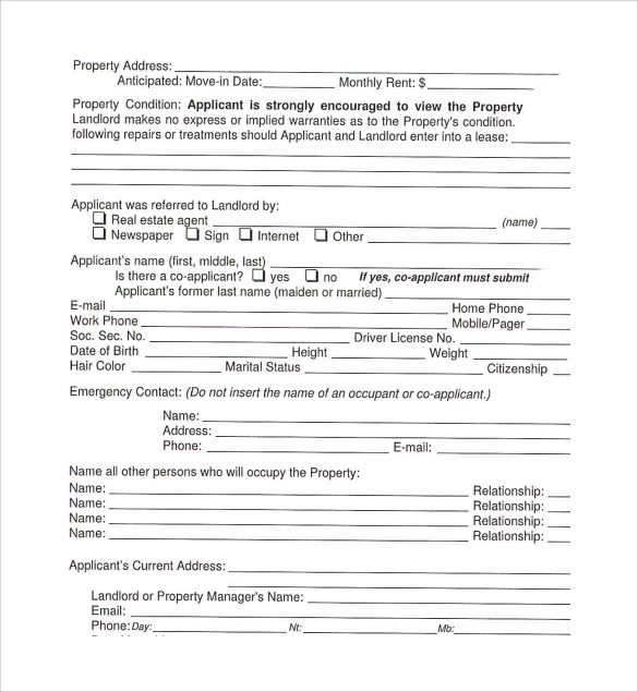 Sample Residential Lease Agreement Standard Residential Template