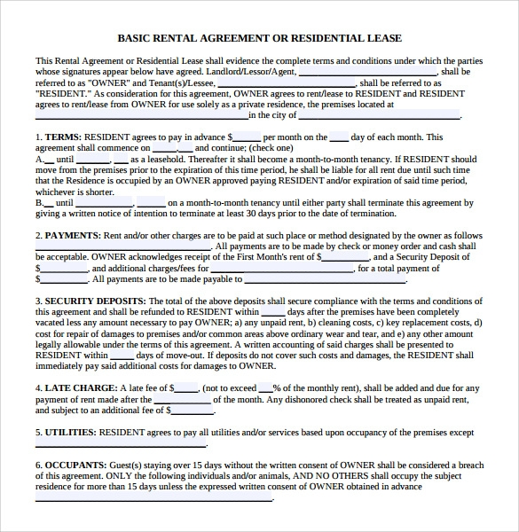 Sample Land Lease Agreement  Free Documents In Pdf Word
