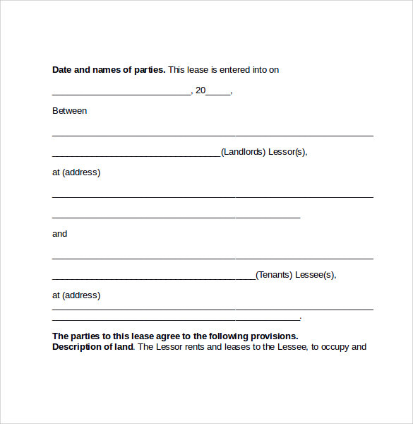 sample pasture lease form1