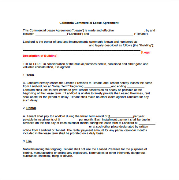 9+ Office Lease Agreement Templates - Free Sample, Example, Format