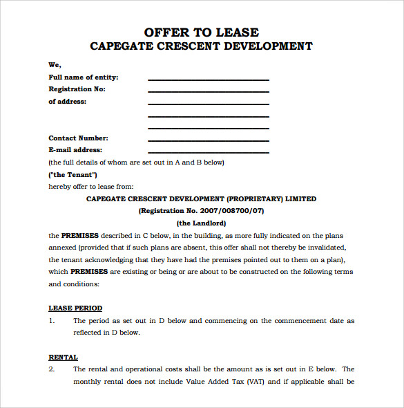 9 Office Lease Agreement Templates Free Sample Example Format – Sample Office Lease Agreement