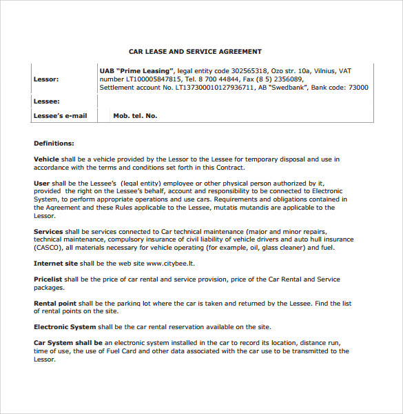 car lease and service agreements3