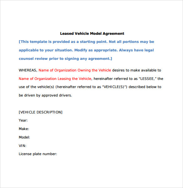 leased vehicle model agreement3