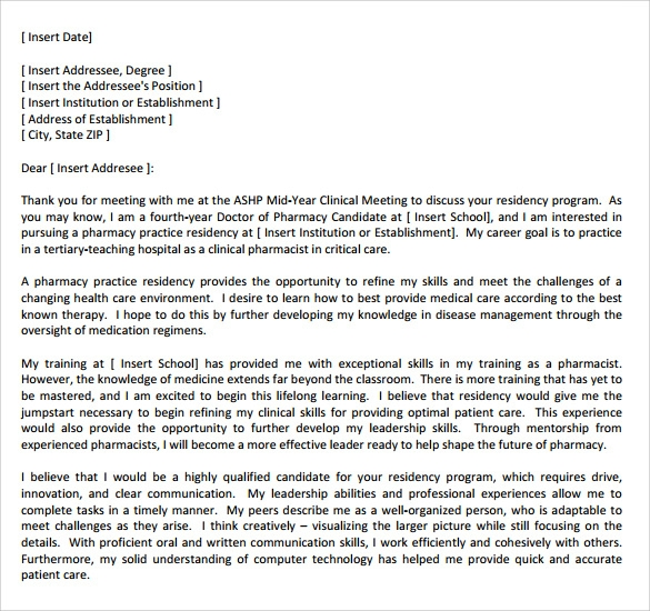 cover letter for residency sample nursing support cover